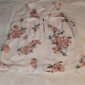 {Candie's} Women's Large Floral Blouse
